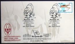 "SWAZILAND                       Carte Commémorative  "" RICCIONE 89 "" - Swaziland (1968-...)"