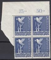 AllBes. GemAusg. 962 B P OR Ndgz, Eckrand 4erBlock Ol, Geprüft, Postfrisch **, 1947 - Zona AAS