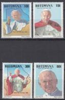BOTSWANA  439-442, Postfrisch **, Besuch  Von Papst Johannes Paul II. 1988 - Botswana (1966-...)