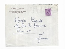 1955 Italie  ALBERGO CAVOUR NAPOLI - Marcophilie - EMA (Empreintes Machines)