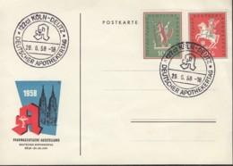 BRD 286-287 Auf Sonderkarte Mit Sonderstempel: Köln-Deutz Deutscher Apothekertag 29.6.1958 - Covers & Documents