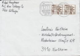 BRD  2x 1037 A MeF, 2erStreifen, Auf Brief, Mit Stempel: Göttingen 26.5.1987 - BRD
