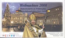 BRD  BAG-MH Gemeinschaftsausgabe Mit VATIKAN Weihnachten 2008, BRD 4x 2703 + VAT 4x 1626 Postfr. **, Papst Benedikt XVI. - Blocchi