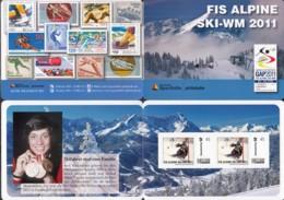 BRD  DSH-MH Mit 2x Marke-Individuell 45 Cent, Postfrisch **, FIS Alpine Ski-WM 2011 - [7] République Fédérale