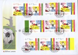 BRD  W 119-122, ZDr. Aus Markenheftchen MH 84 Auf Ersttagsbrief, Frauen-Fußball WM 2011 - [7] République Fédérale