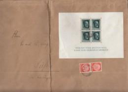 DR Block 7 + ZFr. 2x 517 MiF, Auf Brief Mit Stempel: Ulm 20.9.1937 - Blocks & Sheetlets