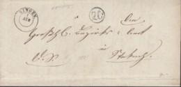 """Faltbrief Dienstsache Von Singen (K2) 1.AUG (1861) Nach Stockach Mit Briefträgerstempel """"26"""" - Baden"""