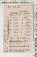 Biglietto Ticket F.lli Collalti & I. Rossignoli Nettuno Anzio Albano Con Marca Da Bollo - Bus