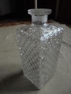 Vintage - Bouteille Flacon à Whisky - Verre & Cristal