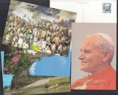 Papst Johannes Paul II, Papstreise Nach Asien: Südkorea, 1984, 5 Bildpostkarten - Popes