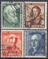 SCHWEIZ  412-415, Gestempelt, Pro Juventute 1942, Frauentrachten - Pro Juventute