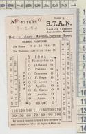 Biglietto Ticket S.T.A.N. Nettuno Anzio Aprilia Pavona Roma - Bus