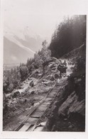 74  PHOTO Travaux Ouvriers  Ligne Electrique TMB TRAIN Du MONT BLANC Saint Gervais  Le Fayet  Vallorcine - Francia