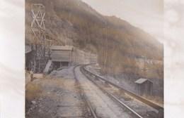 74  PHOTO Chantier Travaux  Ligne Electrique TMB TRAIN Du MONT BLANC Saint Gervais  Le Fayet  Vallorcine - Francia