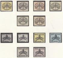 VATIKAN  Porto 7-12 X, 15-24, Postfrisch **, 1945-1968 - Portomarken