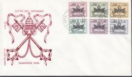 VATIKAN  Porto 19-24, FDC, 1968 - Portomarken