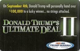 Trump Marina Casino - Atlantic City NJ - BLANK Slot Card - Casinokaarten