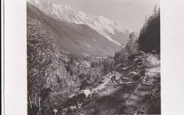 74  PHOTO Travaux  Ligne Electrique TMB TRAIN Du MONT BLANC Saint Gervais  Le Fayet  Vallorcine - Francia