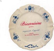 Publicité LABAZ - Buvard ?? - En Forme D'assiette Décorée Pour Bicarnésine Gouttes - Augmente L'appétit - Werbung