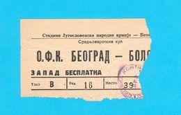 BELGRADEvs BOLOGNA FC 1909 ... 1964. MITROPA CUP Football Match Ticket * Soccer Calcio Biglietto Italy Italia RRR - Tickets D'entrée
