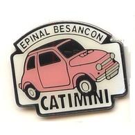 V128 Pin's BMW Austin Mini Rover Fiat 500 ?? Épinal Vosges Besançon Doubs Catimini Achat Immédiat - BMW