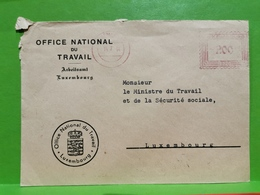 Lettre Luxembourg 1954, Office National Du Travail - Lussemburgo
