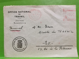 Lettre Luxembourg 1957, Office National Du Travail - Lussemburgo