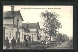 CPA Henin-Lietard, La Route De Drocourt Et La Cite Armand Voisin - France