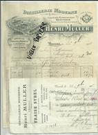 70 - Haute Saone - Vesoul - Facture Henri Muller - Distillerie  - Absinthe - 1906 - Réf. 37 - - France