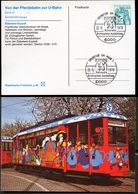 TRAM EBBELWEI-EXPRESS Frankfurt 1978 Germany STO Postal Crd PP100 B2/007 Special Postmark - Tranvie