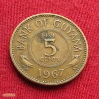 Guyana 5 Cents 1967 KM# 32 *V1  Guiana - Guyana
