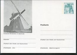 WINDMILL STEINHUDE 1977 Germany STO Postal Card P100 B2/015 - Mulini