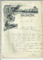 25 - Doubs - Besançon - Facture Casino Et Bains Salins - Belle Vignette   - 1912 - Réf. 37 - - Francia