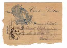 CARTE LETTRE 1916  Pour La Patre Drapeaux De Nos Alliés  -JAN 2020 GERA - Marcophilie (Lettres)