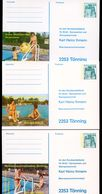 FIRST TOPLESS SWIMMING POOL In GERMANY STO Postal Cards PP100 B2/016 1977 - Timbres