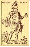 Illustration, Dessin Sur Plaque De Bois - Métiers Du Temps Passé - Arracheur De Dents - Dentiste - A Circulé - Salute