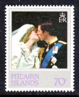 PITCAIRN ISLANDS - 1982 PRINCESS DIANA 21st BIRTHDAY 70c STAMP FINE MNH ** SG 228 - Pitcairn Islands