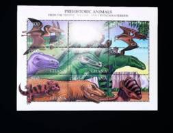 Ghana 1999 Dinosaurs, Prehistoric Animals - Ghana (1957-...)