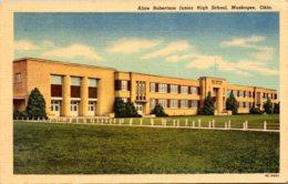 Oklahoma Muskogee Alice Robertson Junior High School Curteich - Muskogee