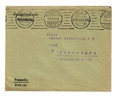 Nürnberg Postscheckamt 1922 Als Postsache Nach Kitzingen - Unclassified
