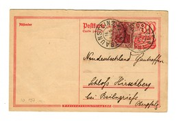 Ganzsache 1922 Traunstein Nach Schloß Hirschberg/Oberpfalz - Unclassified