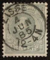 "NTH SC #26 U 1875 King William III W/SON ""LISSE/4 JUN 85/12-4 N"" W/flt CV $2.40 - Gebruikt"