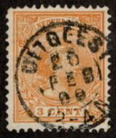"NTH SC #40 U 1894 Princess Wilhelmina W/SON ""UITGEEST/20(?) FEB 98(?)/12-4 N"" CV $2.30 - Gebruikt"