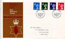 Machin012  1974 FDC   Definitive Northern Ireland - 1971-1980 Decimal Issues