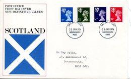 Machin009  1974 FDC   Definitive Scotland - 1971-1980 Decimal Issues
