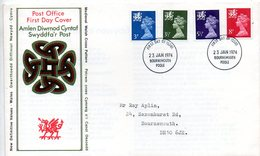 Machin008  1974 FDC   Definitive Wales - 1971-1980 Decimal Issues