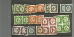 36x2 Et 24 Timbres Sans Gomme  +de 458 Euros De Cote  (clasfdcpetible) - Postage Due