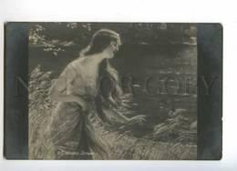 215522 NYMPH W/ DRAGONFLY By SCHRAMM Vintage Postcard - Illustrators & Photographers