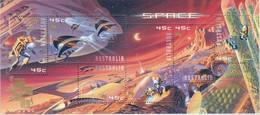 "Australia 2000 Space Sheetlet Ovpt ""Hong Kong 2001"" Sc 1914g Mint Never Hinged ** - Mint Stamps"