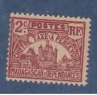MADAGASCAR         N°  YVERT  :  TAXE 8           NEUF AVEC  CHARNIERES      (  CH  02/23 ) - Madagascar (1889-1960)